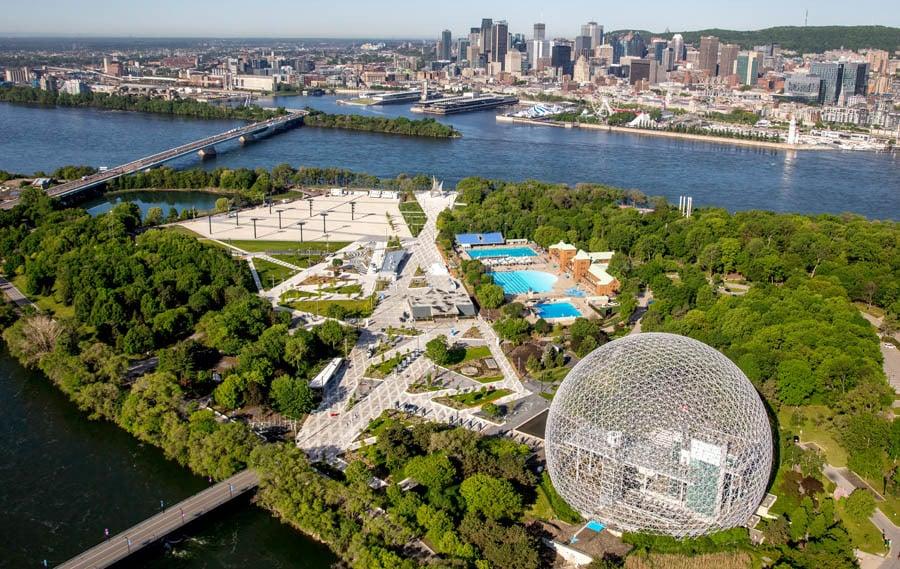الشواطئ والمتنزهات في مدينة مونتريال