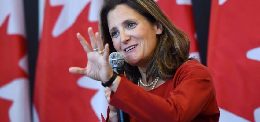 تصريحات نائبة رئيس الوزراء الكندي بشأن اعادة تشغيل الاقتصاد الآمن