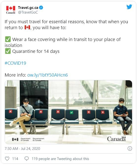 إجراءات عند العودة إلى كندا لابد من الإلتزام بها و المخالفات قد تصل إلى السجن