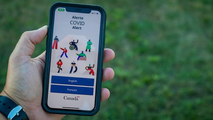 تطبيق COVID ALERT وتصريحات المقاطعات الكندية الخاصة به