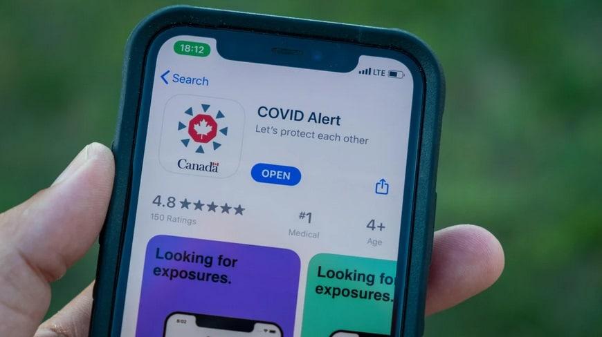 رأى مقاطعة كولومبيا البريطانية فى تطبيق Covid Alert الكندى