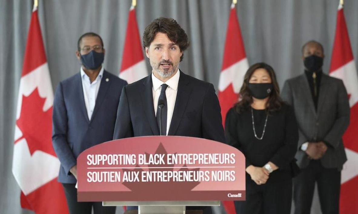 إعلان ترودو عن برنامج دعم يقدم 221 مليون دولار لدعم رواد الأعمال الكنديين السود