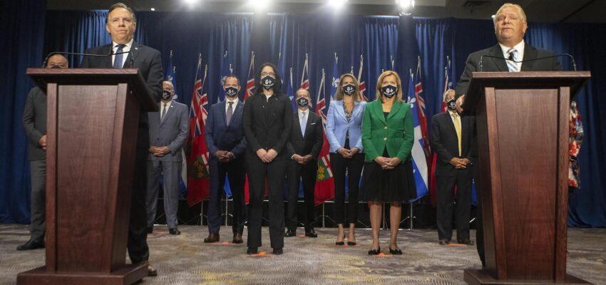 خطط إنتعاش الإقتصاد فى لقاء رئيس وزراء أونتاريو و رئيس وزراء كيبيك