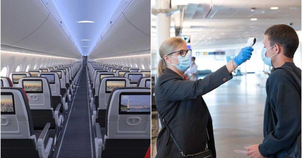 ما يقرب من 1000 رحلة طيران فى كندا كان بها ركاب مصابين بـ COVID-19 على متن الطائرة