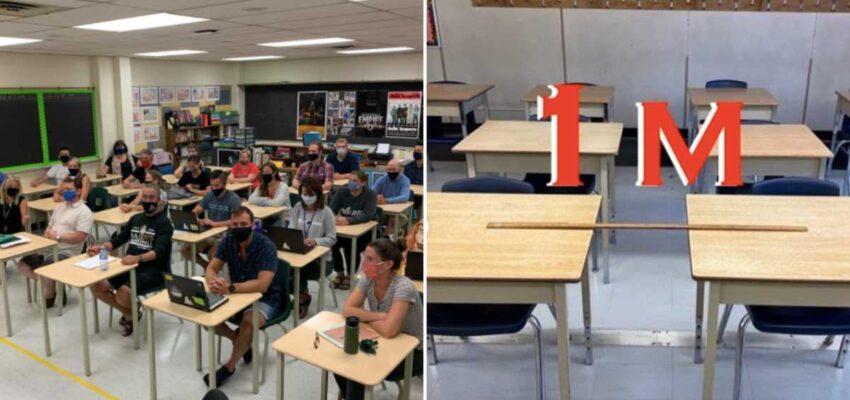 يصف المعلمون فى أونتاريو مدى صعوبة تطبيق مسافة التباعد الإجتماعى فى الفصول
