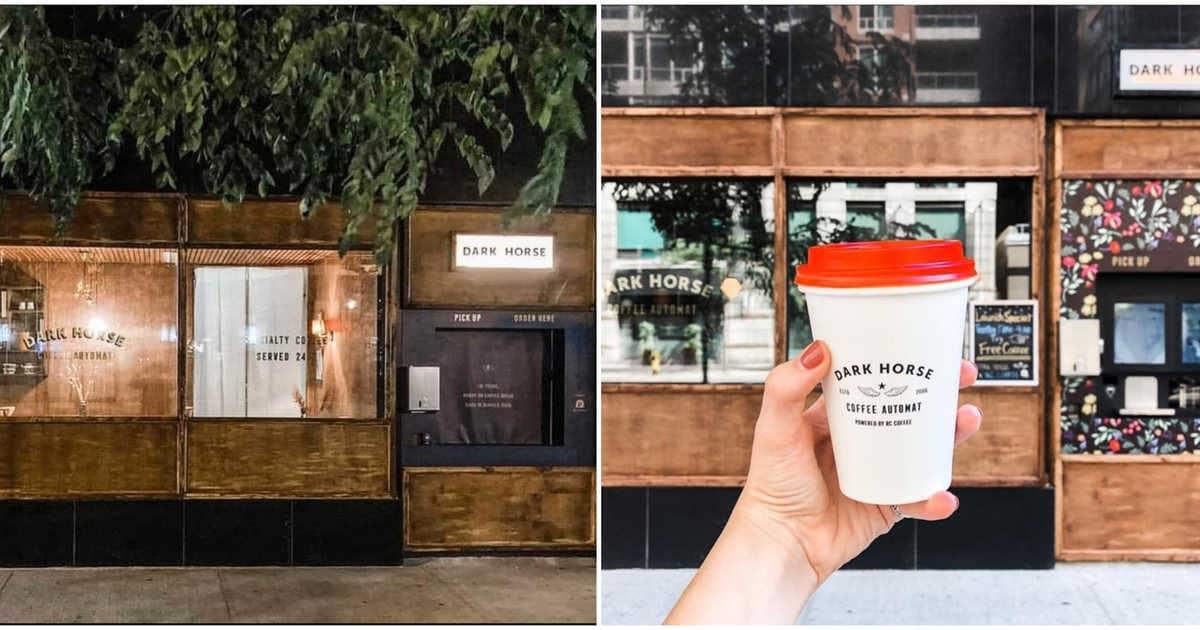 أول مقهى آلى يقدم القهوة بدون تلامس فى الهواء الطلق فى كندا