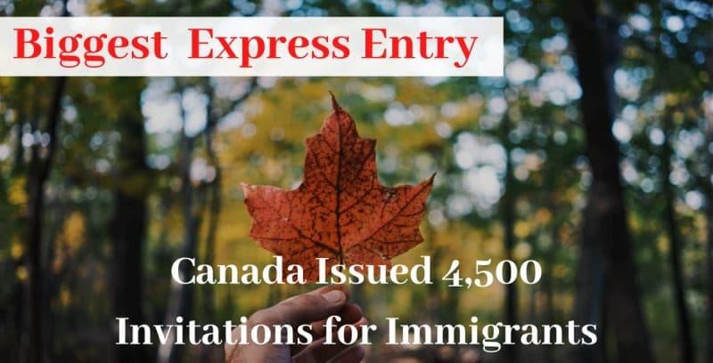 برنامج الدخول السريع فى كندا يدعو 4500 للحصول على الإقامة الدائمة Express Entry