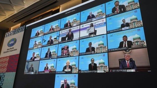 ينضم ترودو إلى زعماء APEC الآخرين للتوقيع على إعلان التجارة الحرة