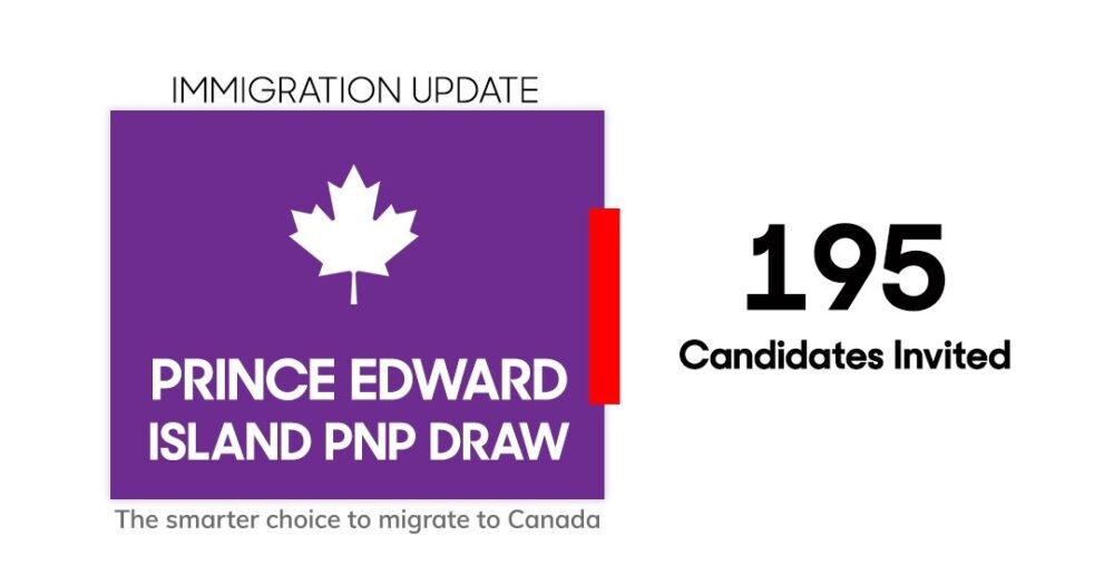 برنامج جزيرة الأمير إدوارد PNP تدعو 195 في قرعة الهجرة الجديدة