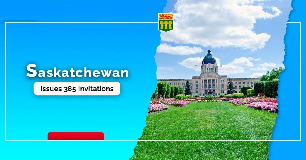 أصدرت ساسكاتشوان 385 دعوة فى أول قرعة 2021 PNP