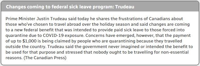 ما يقرب من نصف الكنديين لم يمكثوا فى منازلهم لقضاء العطلات